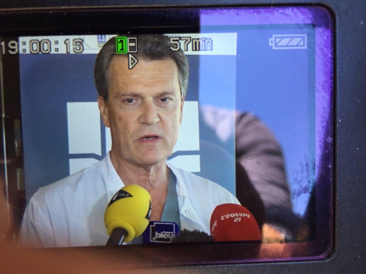 Déclaration du professeur Gilles Dreyfuss après l'opération