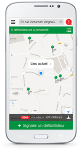 Staying alive application pour localiser les DAE