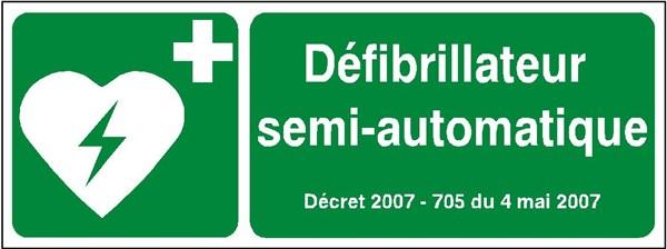 Défibrillateur semi-automatique DSA signaletique - Restenvie