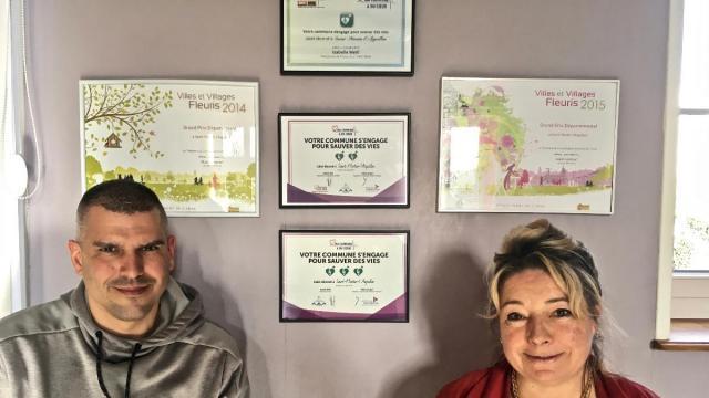 La commune de SaiSaint Martin l'AIguillon a du coeur grâce à l'action de Pierre Pothier et Valérie Chesnel